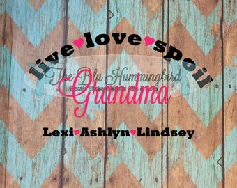 Grandmother Gift, Mother's Day Gift, Personalized Grandma Gift, Gifts for Grandma, Grandma, Grandma Decal, Grandmother Decal, Custom Decal