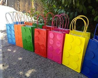 lego theme party bags