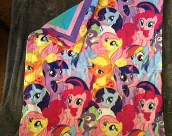 Pony Pals Reversible my little pony blanket