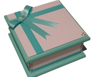 Turquoise & White Keepsake Box