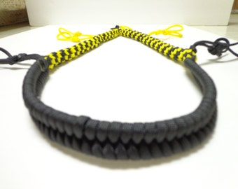 Custom Paracord Goose/Duck Call Lanyard Black and Yellow