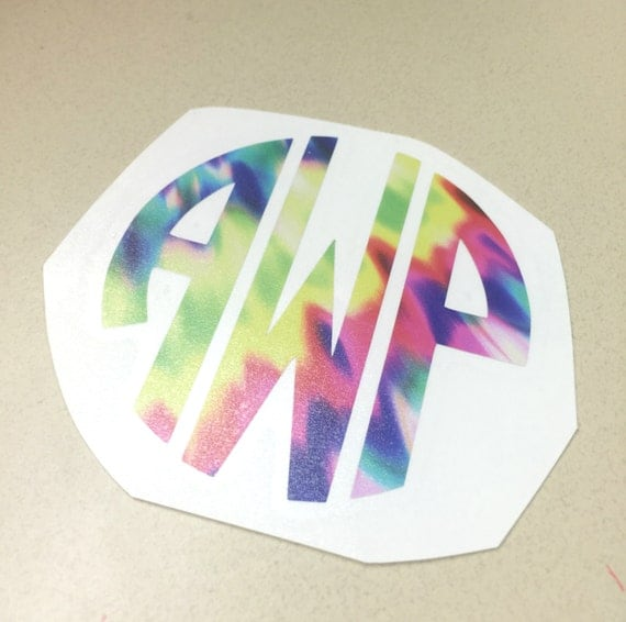 Tie Dye Monogram Decal - Choose Your Size