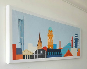 Manchester Skyline 1 urban landscape print