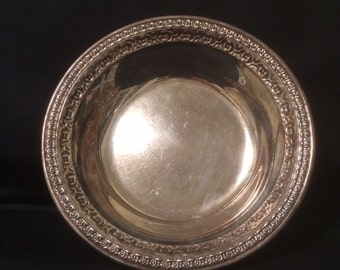 Silverplated Bowl Reed and Barton 1203 Decorative Vintage small bowl 1960s