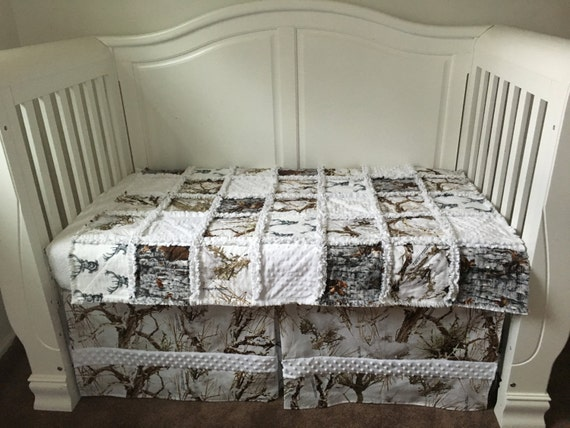 Camo Crib Bedding Set Custom Baby Bedding Set Snow Camo Crib