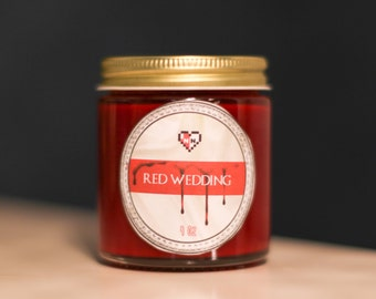 FINAL CLEARANCE-- Red Wedding -- Game of Thrones Inspired Soy Candle (4 oz.)