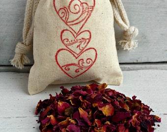 Rose Petal Sachets Bags Scented Sachets Aromatherapy Sachet Favors Sachets Wedding Favors Scented Drawer Sachets Drawer Sachets