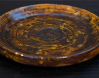 Hand thrown ceramic plate