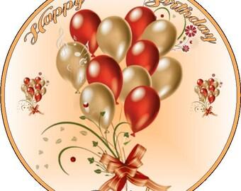 "Birthday/Anniversary 7.5"" Personalised Icing Cake Topper"