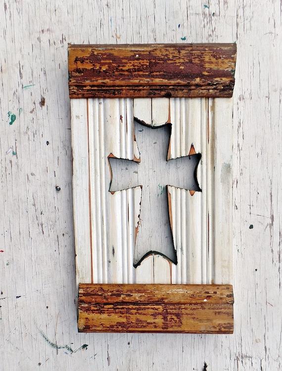 Gold Cross Wall Decor : Rustic cross wooden wall religious decor gold