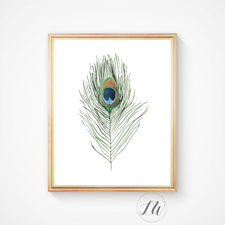 Wall Art Prints Download : Home decor printable art feather print