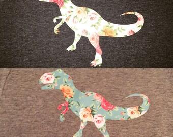 Floral T-Rex tshirt