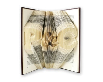 1st anniversary gift - Paper anniversary gift - Gift for him - Anniversary gift for men - Boyfriend gift - Personalized gift - Book art