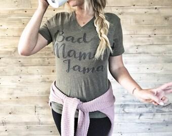 Anuncios de embarazo   90s ropa   Camiseta de embarazo   Camisa de los padres   Mamá y Me traje   Top y camisetas   Bad Mama Jama camisetas   Mamá