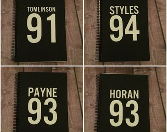 One Direction Varsity Number Notebooks
