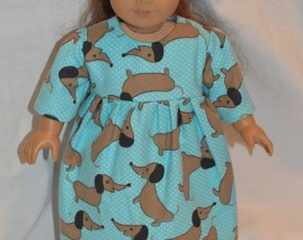 "American Girl Doll Clothes-American  Girl Pajamas-American Girl Doll Nightgown-18"" Doll Nightgown-18"" Doll Clothes-Maryellen Doll Clothes"