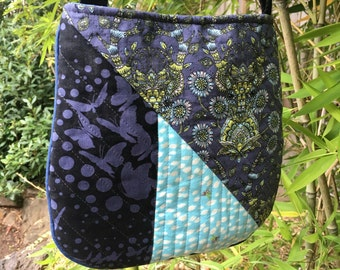 Moving Sale! New Lower Price! Quilted Mini Trail Tote in Tula Pink Moonshine Fabric OOAK