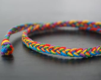 Rainbow Friendship Bracelet - LGBT Pride - Tie On