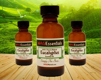 EUCALYPTUS Essential Oil - (Amber Glass Bottle) *** Free U.S. Shipping ***