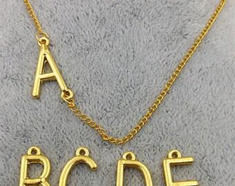 24x9mm A-Z full set 26 letters charm pendants 26 capital letters charm pendant letters connector MF1025
