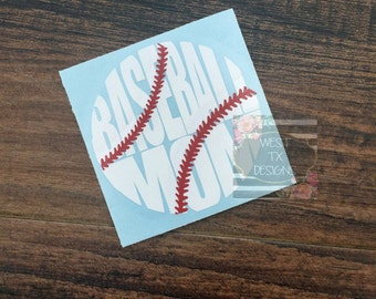 Baseball Mom Decal | Sports Mom | Baseball Decal | Baseball Mom Car Decal | Baseball Decal for Yeti