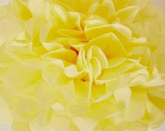 Yellow Paper Pom Pom