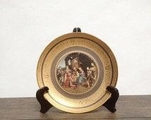 "10% OFF Rare Polychrome Porcelain Plate - ""Raphael's Adoration of the Magi"" - Franklin Mint"