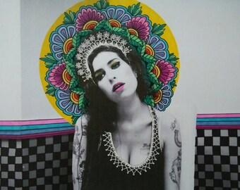 Amy Winehouse Seated Print
