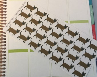 Burmese Cat Stickers! Cat Stickers! Perfect for your Erin Condren Life Planner, calendar, Paper Plum, Filofax!