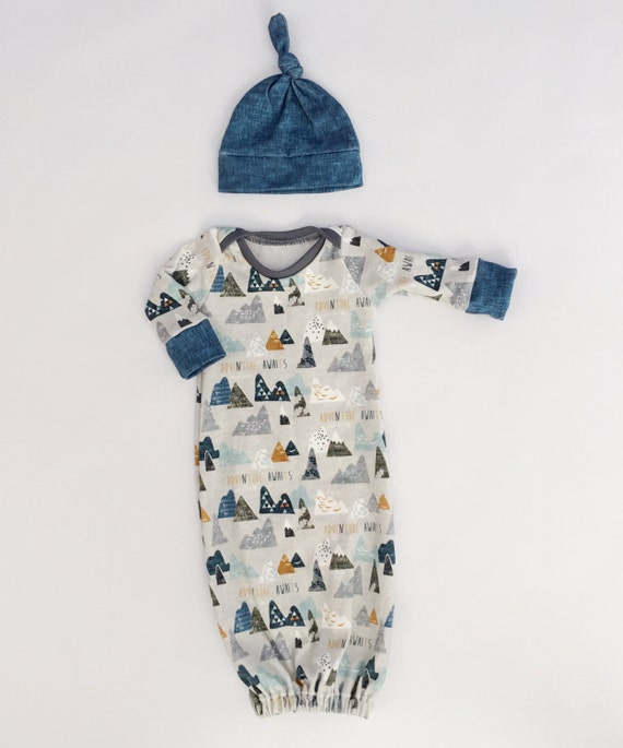 Baby Boy Baby Sleep Sack Baby Gown Organic By Littlebeansbabyshop