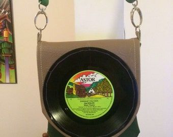 """7"""" (inch) Vinyl Record Bag - Handmade from rescued materials"""