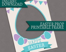 Printable Easter photobooth frame, printable photo booth easter prop, Instant Download, giant printable easter frame, easter egg hunt party