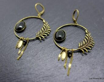 Art deco onyx earrings