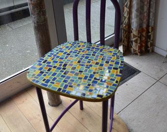 Stool high tiled