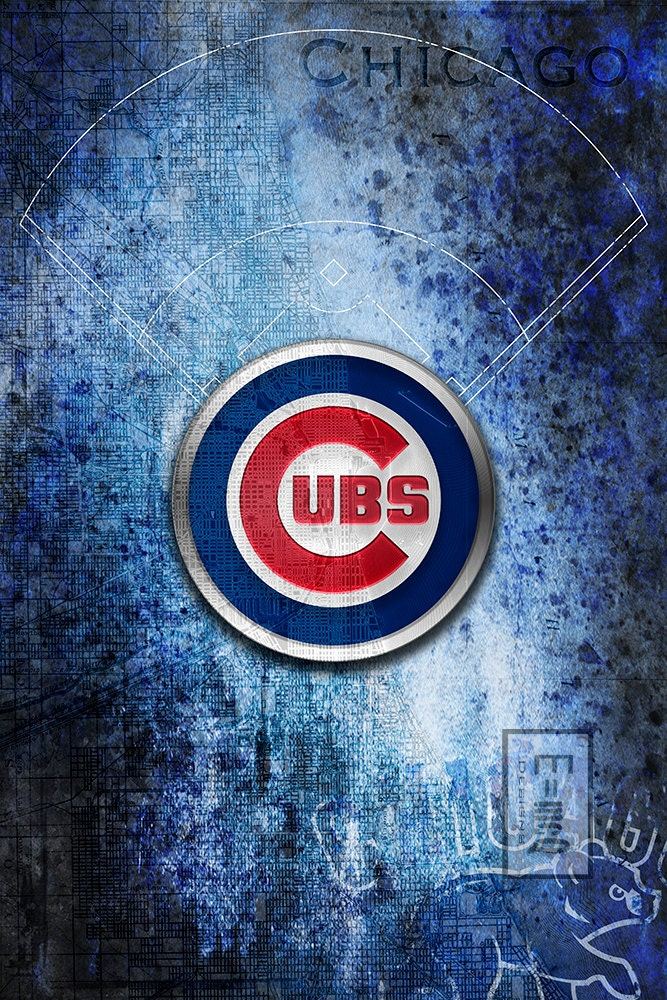 chicago cubs art chicago cubs poster available in by mcqdesign