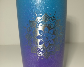 Personalized painted stainless steel tumbler 20 oz