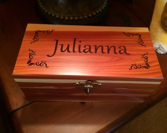 Personalized Cedar Box - Large