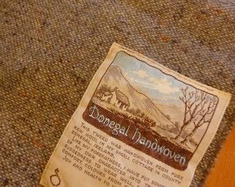 Rare Vtg 1980s J.J. CAMPBELL Donegal Handwoven mens scarf