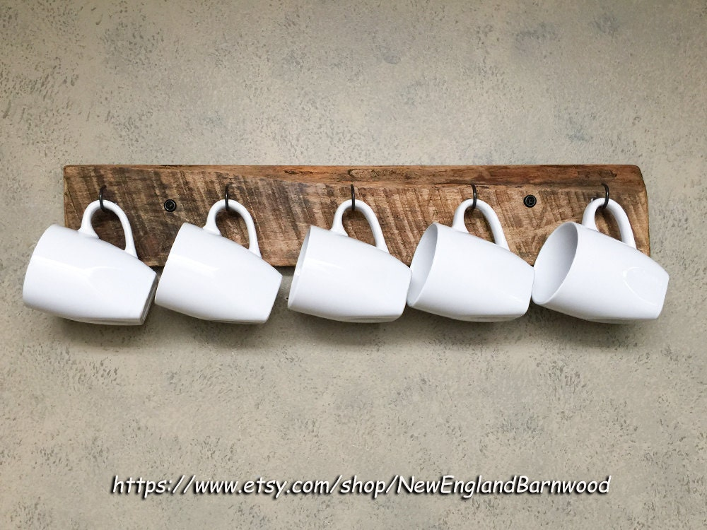Coffee Cup Display Wooden Mug Rack Coffee Mug Holder Coffee