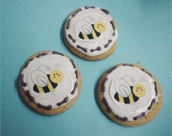 Bumble Bee Birthday Baby Shower 12 sugar cookies