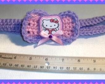 Hello Kitty Crocheted Headband