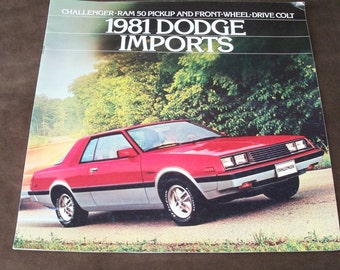 1981 Dodge Imports Dealer Advertising Brochure