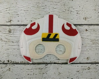 Rebel Pilot Children's Felt Mask  - Costume - Theater - Dress Up - Halloween - Face Mask - Pretend Play - Party Favor