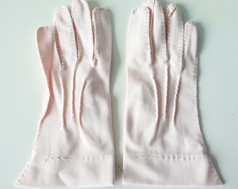 Pink vintage Paris gloves