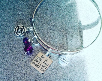 charm bracelet expandable bracelet be so good they can't ignore u motivation bracelet
