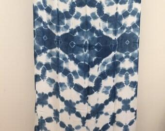 Hand Dyed Indigo Shibori Wrap