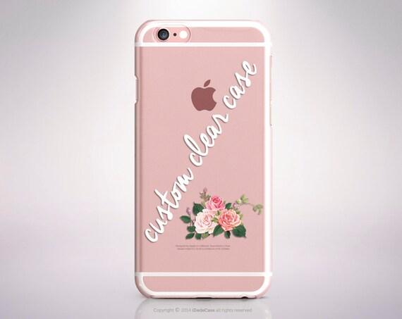 Custom iPhone 7 Case Clear iPhone 7 Plus Case Clear Custom iPhone 6 Case iPhone 6S Plus Case Custom iPhone 6 Case Clear iPhone SE Case Clear
