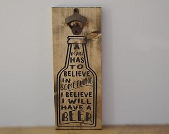 Beer Bottle Opener- Bottle Opener- Family- Craft Beer- Beer Lover Gift- Craft Beer Gift- Father's day gift