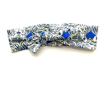 Blue tiger Knotted Headband