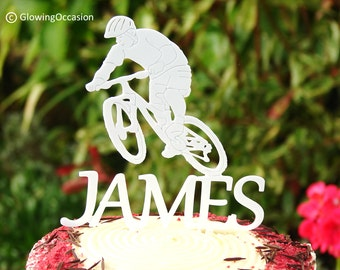 Personalised Mountain Biking Cake Topper